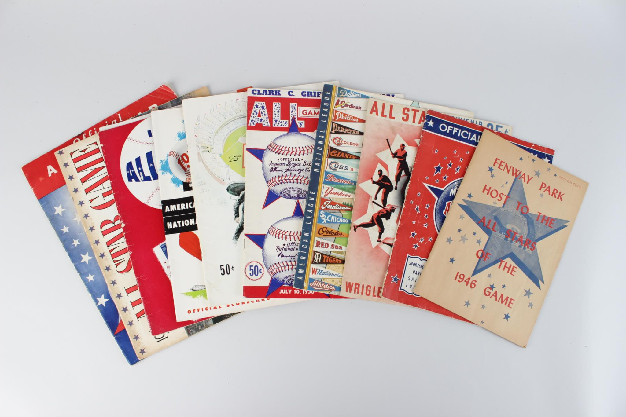 Lot of 1940-1960 All Star Baseball Game Programs28312_01