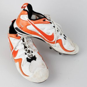 2003 Miami Dolphins HOF - Junior Seau Game-Worn Cleats Shoes (Photo-Style Match)