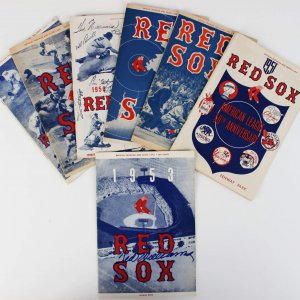 1953 Boston Red Sox Ted Williams Signed Program & 1950-59 Programs