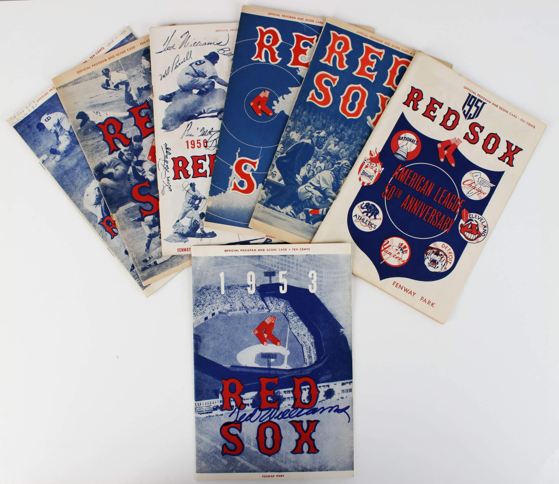 1953 Boston Red Sox Ted Williams Signed Program & 1950-59 Programs28322_01