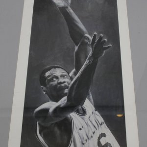 Boston Celtics - Bill Russell 19x40 Stephen Holland Lithograph (Signed by the Artist)