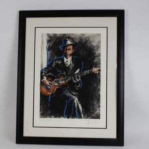 Jazz & Blues Suite - Robert Johnson Limited Edition Giclee Print 29x37 Display 106/250 Signed by Artist Ronnie Wood