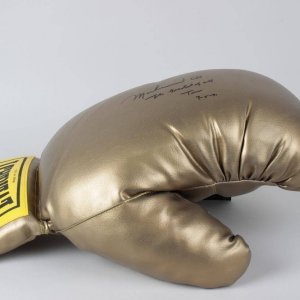 "Muhammad Ali Vintage Signed & Inscribed ""The Greatest"" Of All Time 7-5-90 Oversized Gold Everlast Boxing Glove"