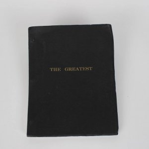 """Boxing Great - Muhammad Ali Signed Autographed Script For """"The Greatest"""" Film Movie (1977) Feat. Lengthy Inscription """"The Greatest of All Times After Me There Will Not Be ANOTHER 9- 5- 90"""""""