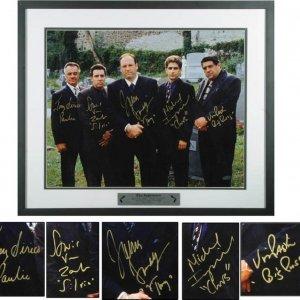 The Sopranos Signed 16 x 20 Cast Photo.James Gandolfini