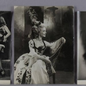 Six Vintage Vivien Leigh Archive B&W Photographs (All Original Incl. John Vickers Studio Stamping on Reverse)