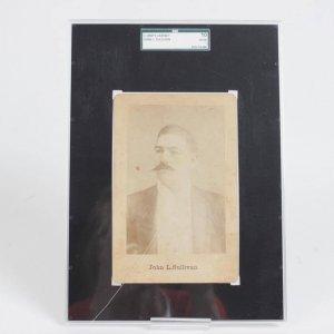 Circa 1890s Boxer John L. Sullivan Cabinet Card feat. Facismile Autograph (SGC Encapsulated)