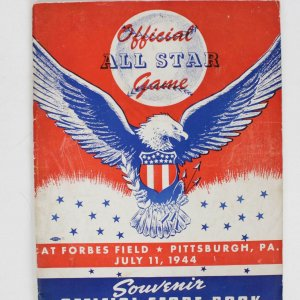 Rare 1944 All Star At Forbes Field Pittsburgh,Pa July 11 Program