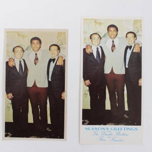 "Muhammad Ali Original ""3 1/2 X 6"" Photo-Dundee Brothers Christmas Card"