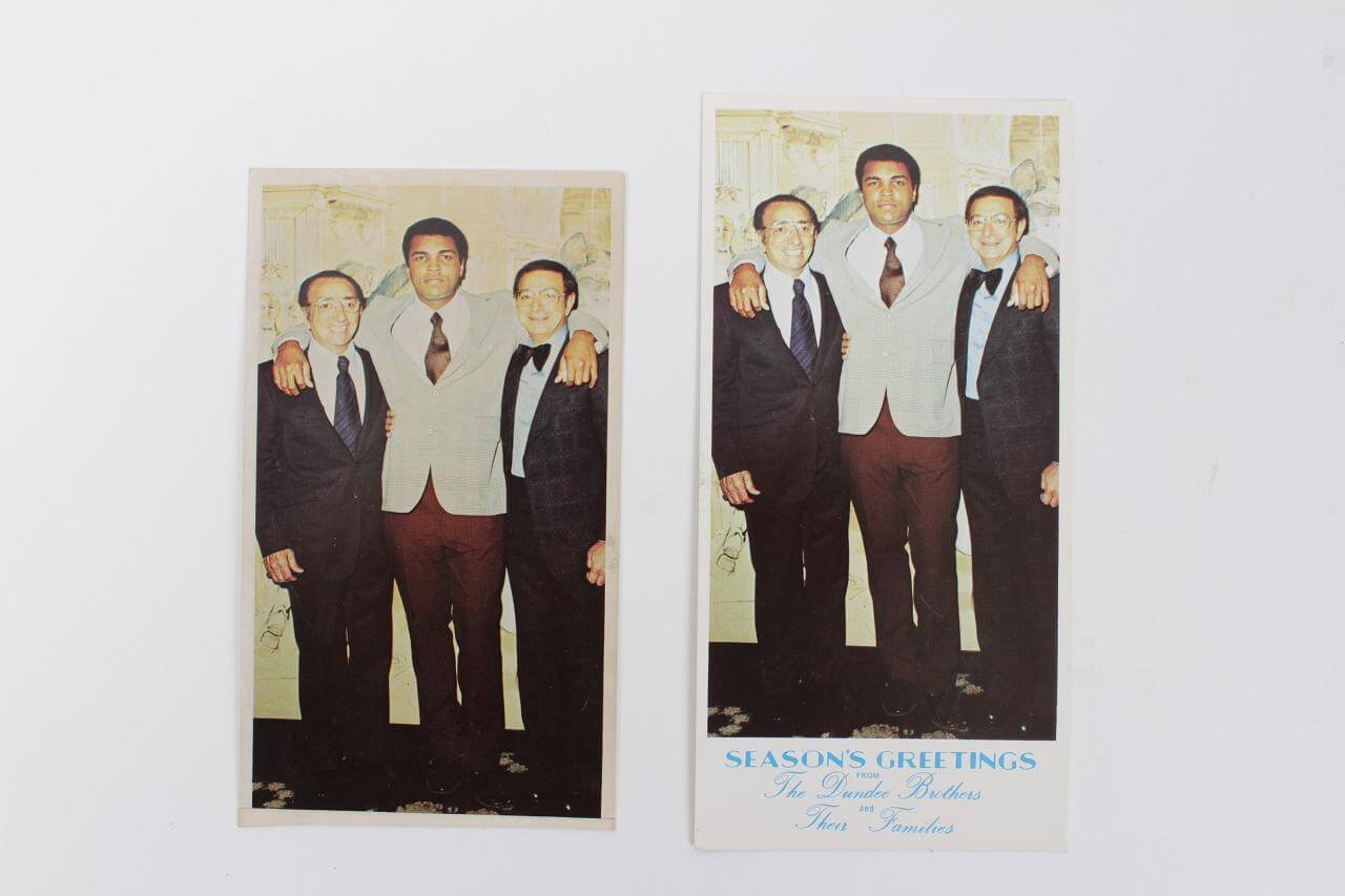 Muhammad Ali Original Photo-Dundee Brothers Christmas Card