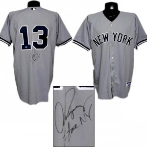 "Alex Rodriguez Signed ""I Love NY"" Yankees Jersey (with A-Rod Hologram)"