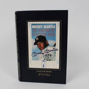 "Mickey Mantle Signed  & Inscribed (1956) ""My Favorite Summer, 1956"" Book (Collector Edition)"