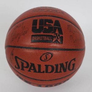 2008 USA Men's Olympic Team (Gold Medal Winners) Team-Signed Spalding USA Basketball 13 Sigs. Incl. Kobe Bryant