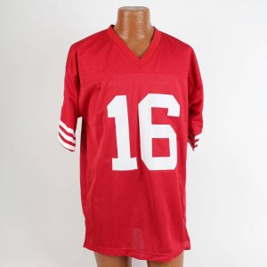 "San Francisco 49ers - Joe Montana Signed Red Jersey 3x Inscribed Incl. ""4XSB Champ"""