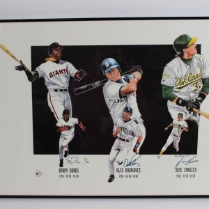 1990s Superstar Sluggers 18x20 Poster Signed