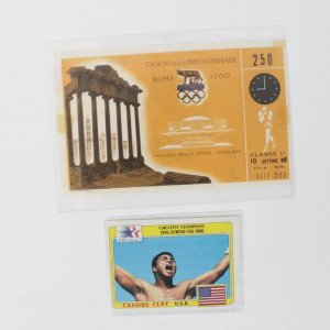 1960 Rome Summer Olympics Cassius Clay Stubless Boxing Event Ticket