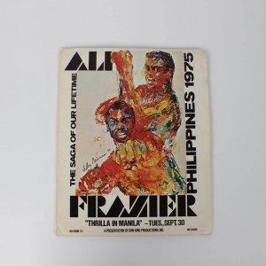 "1975 ""Thrilla In Manila"" in Philippines - Muhammad Ali vs. Joe Frazier III Leroy Neiman Cover Original Press Kit"