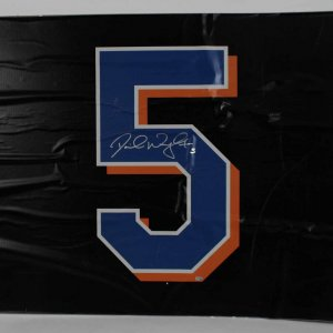 David Wright New York Mets Shea Stadium Final Season Signed Game Used 44x34  Vinyl Game Countdown Sign (09/28/08) Team COA