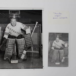 1967-68 Pittsburgh Penguins - Les Binkley (2) Signed Original Postcards by James D. McCarthy & McCarthy Proof (Photo) For Postcard