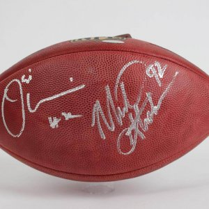 Umenyliora & Michael Strahan Dual Signed MFL Wilson (Goodell) The Duke Football