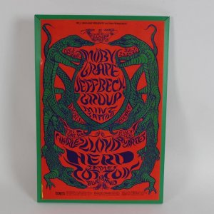 1968 Moby Grape, Jeff Beck Group, Charles Lloyd Quartet at Fillmore Carousel, San Francisco - Rock Concert Poster Lithograph by Artist Lee Conklin