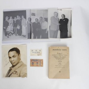 Boxing Great Henry Armstrong Lot Feat. Signed Inscribed 8x10 Vintage B&W Photo
