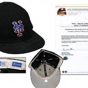 2006 Jose Reyes Game-Used Mets Cap (w/Mets Steiner-Letter)