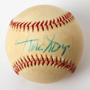 Vintage Willie Mays Signed OAL( Mac Phail) Spalding Baseball (75160)
