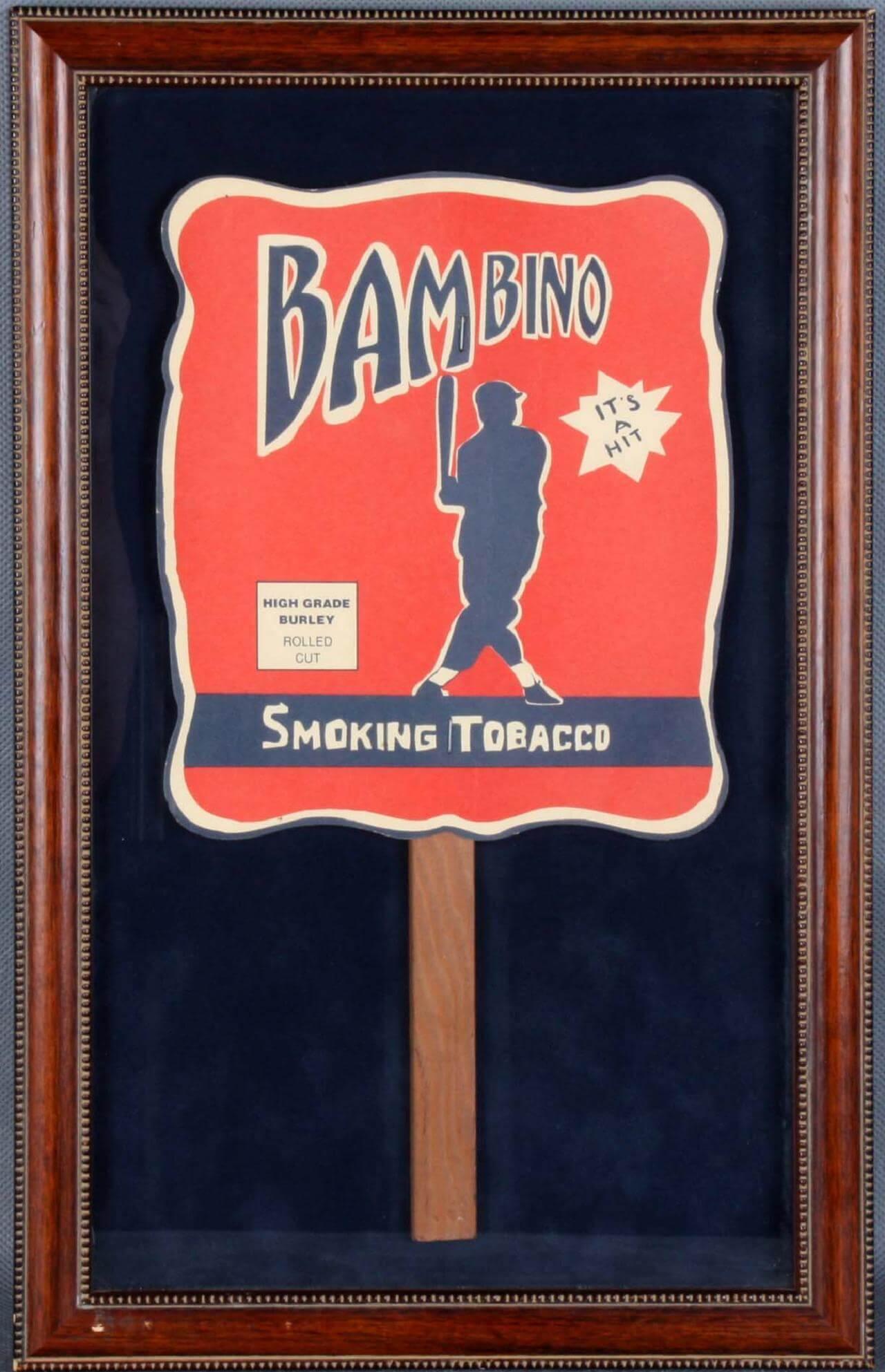 """Circa 1930s """"Bambino Smoking Tobacco"""" Advertising Fan Replica"""