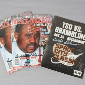 Eddie Robinson Signed TSU vs Grambling Program & (2) 1997 Black College Football Yearbooks Signed By Robinson