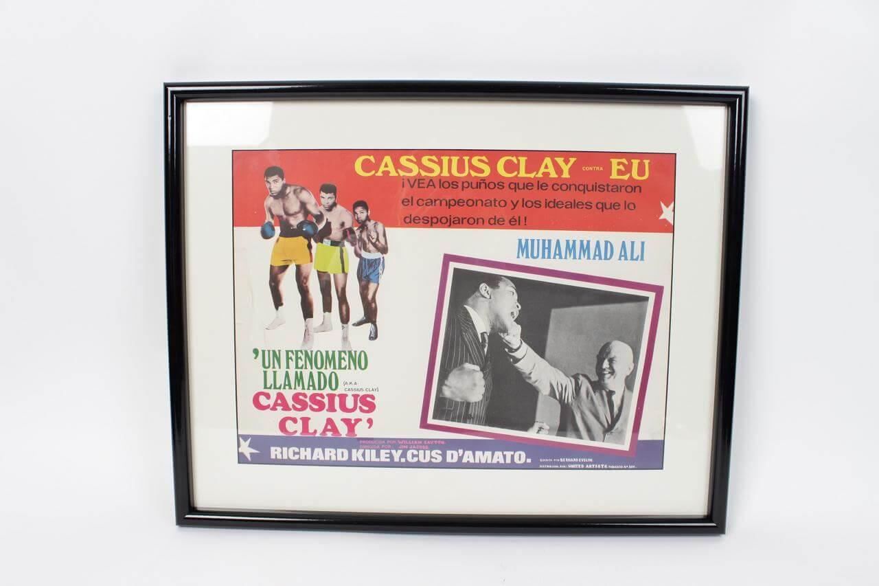Cassius Clay Film Movie Spanish Lobby Card