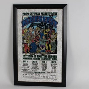 2009 Safeway Waterfront Blues Fest Poster 18x28 Display