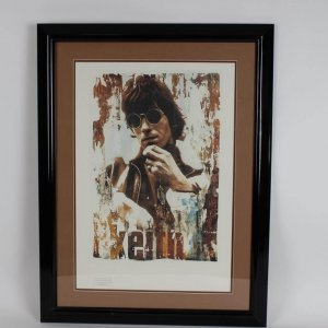 Rolling Stones - Keith Richards Limited Edition Lithograph Poster by Artist Gered Mankowitz 26x34 Display