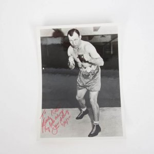 Boxing Great - Jack Sharkey Signed