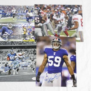 New York Giants Lot of 4 Signed 8x10 Photos - Brandon Jacobs