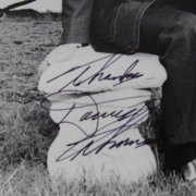 Danny Thomas Signed & Inscribed ( Thanks ) 8x10 B&W Photo