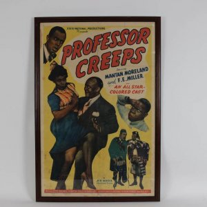 "Vintage 1942 ""Professor Creeps"" Movie Film One Sheet Poster (27x41 Display)"