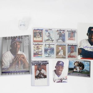 Montreal Expos & Aneheim Angels Lot of 14 Signed Vladimir Guerrero Items Incl. 8 Cards