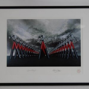 1982 Pink Floyd The Wall Original Movie Animation Cel Marching Hammers Lithograph - by Roger Waters & Gerald Scarfe