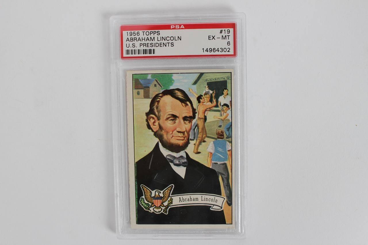 1956 Topps - Abraham Lincoln U.S. Presidents Card (#19) PSA EX-MT 6