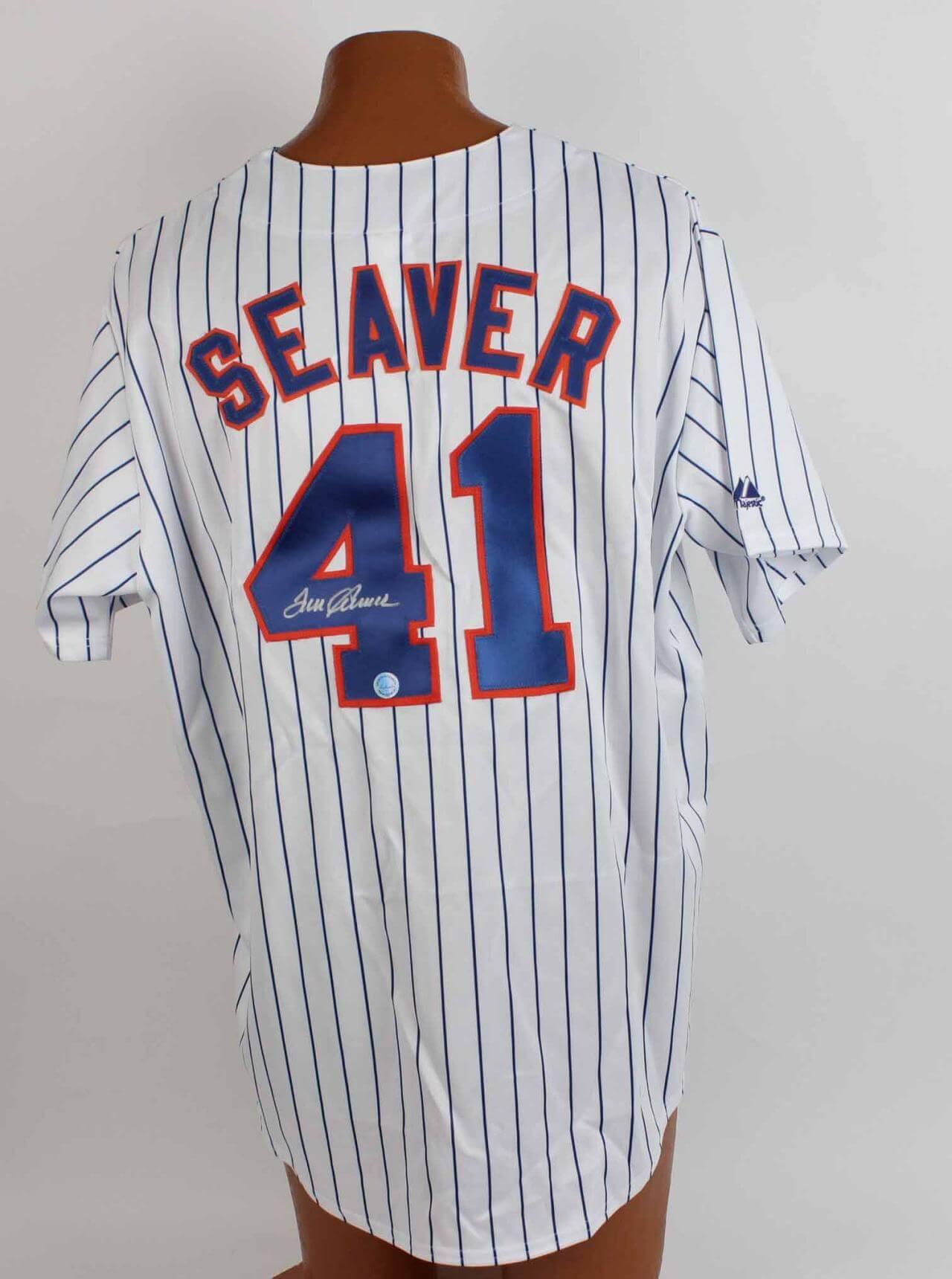 Mets Tom Seaver Autographed Pinstripe Jersey