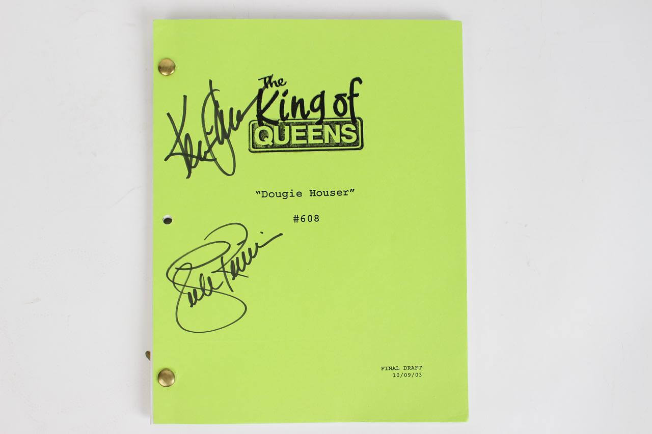 King Of Queens-Signed Final Draft 10/09/03 Doug & Carrie Heffernan (JSA)