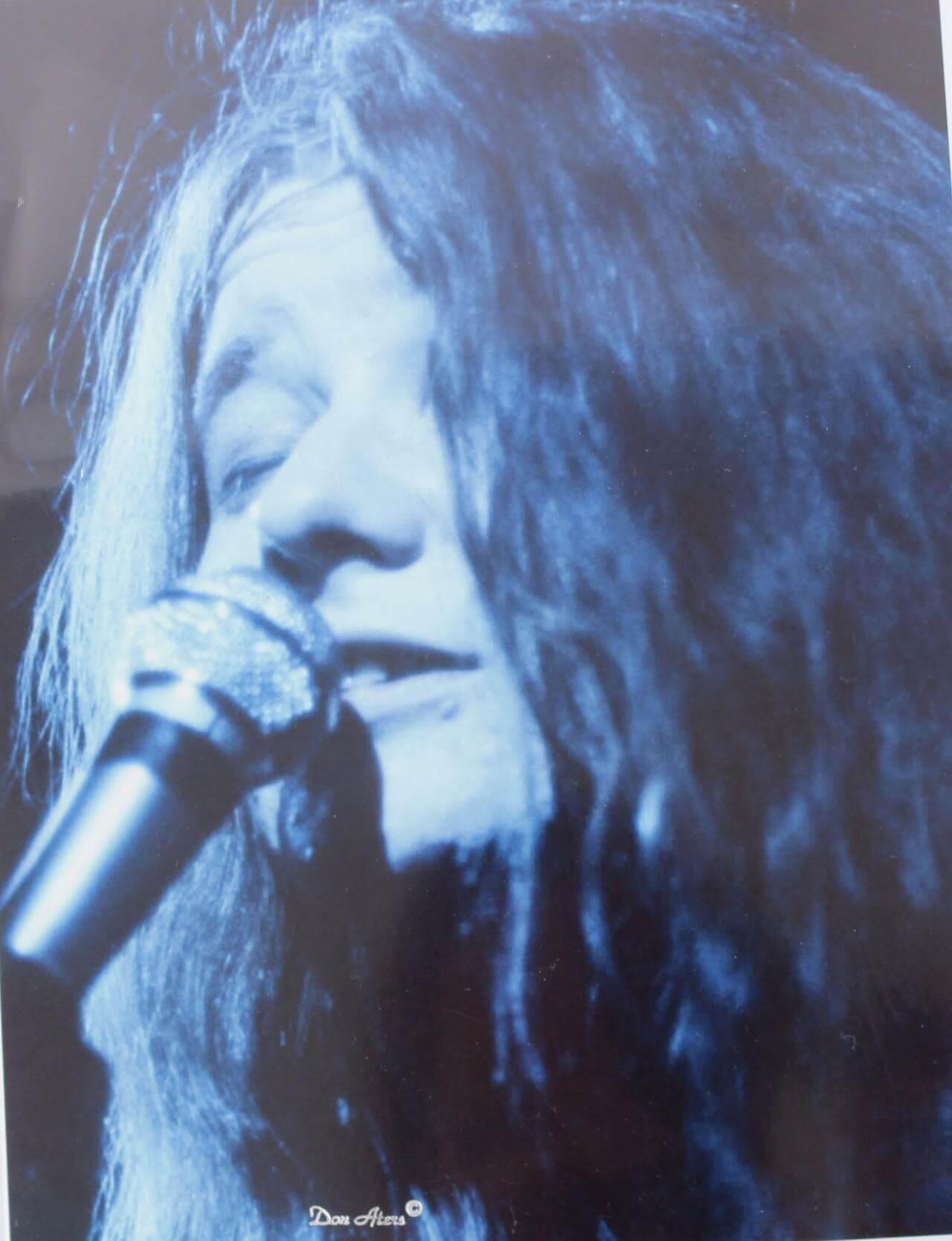 Janis Joplin 8x10 Headshot Photo (Don Aters Seal)