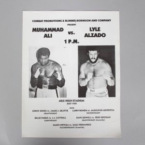 July 14, 1979 - Lyle Alzado vs. Muhammad Ali  at Mile High Stadium Program