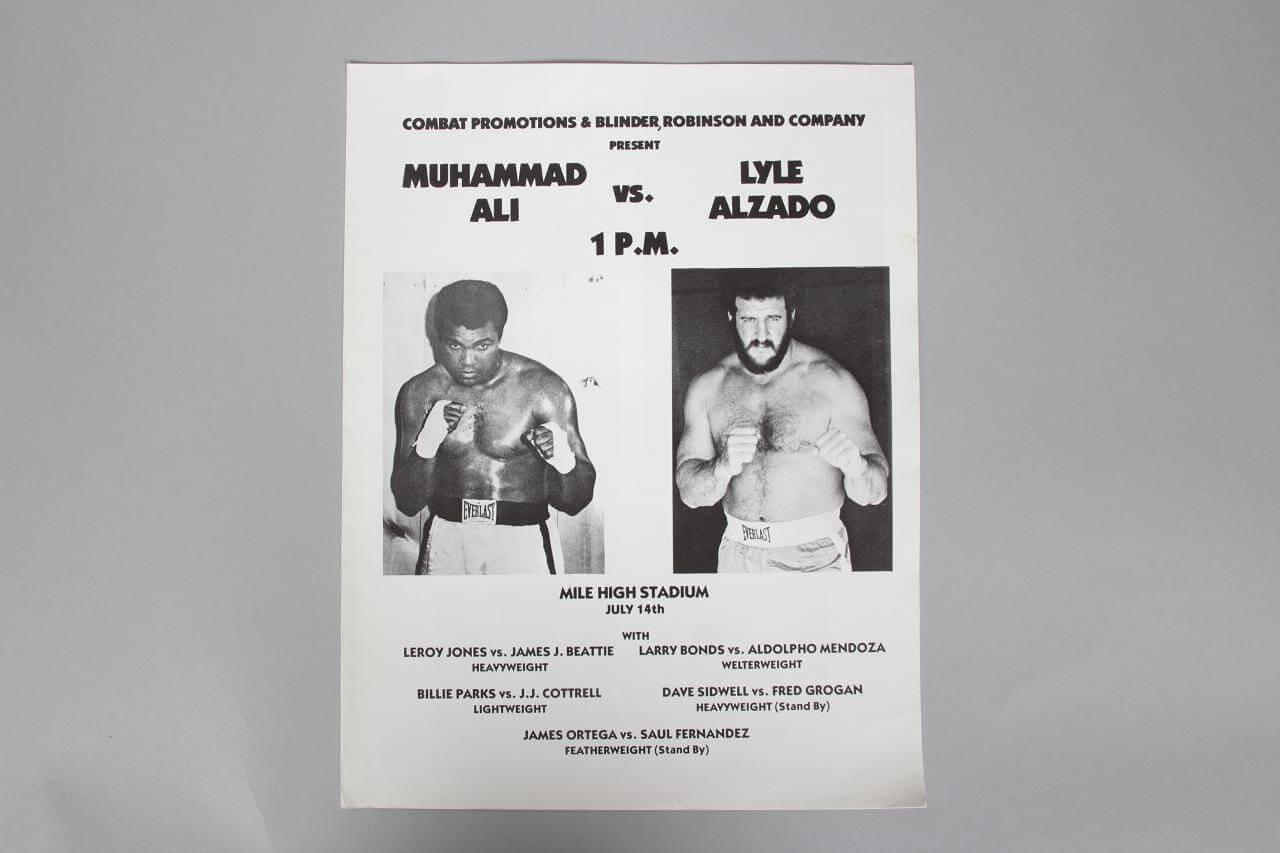 July 14, 1979 - Lyle Alzado vs. Muhammad Ali  at Mile High Stadium Program