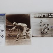 Leo Durocher  & Don Larsen Signed, 8x10 B & W Photos - JSA