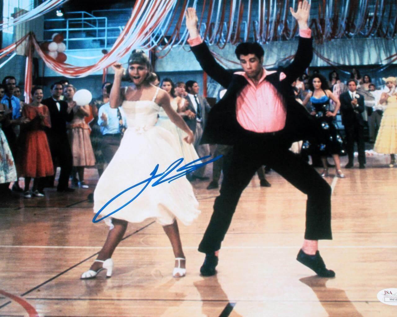 Grease Film Movie Actor - John Travolta Signed 11x14 Photo - COA JSA
