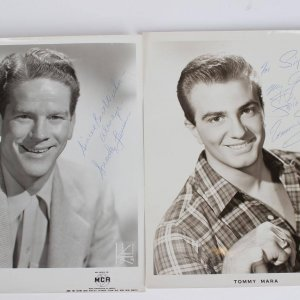 Trio of Singers Signed 8x10 Vintage B&W Promo Photos Incl. Snooky Lanson