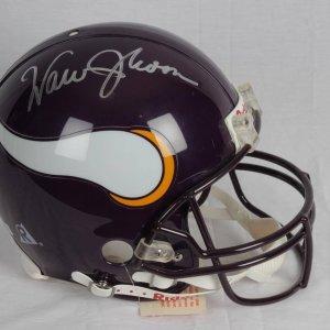 Warren Moon Vikings Signed Ridddell Replica Full Size Helmet