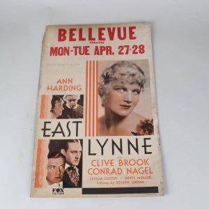 East Lynne Starring Ann Harding Movie 14x22 Lobby Card